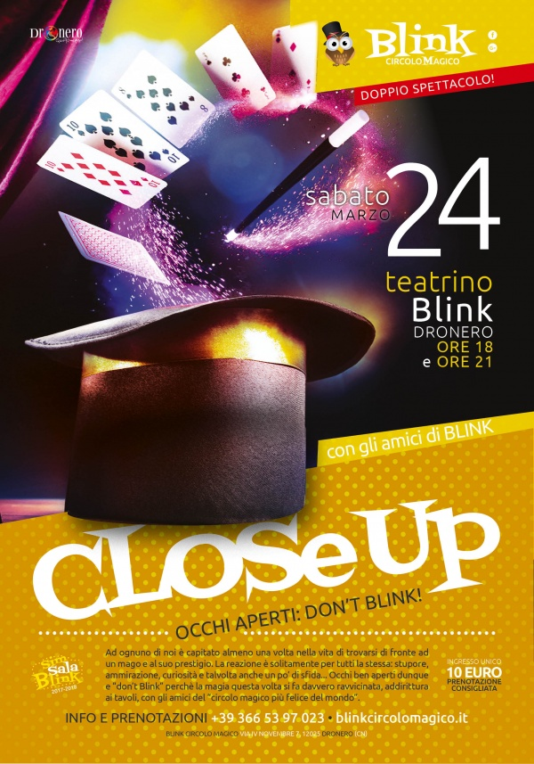 BLINK CLOSE UP - OCCHI APERTI: DON'T BLINK!