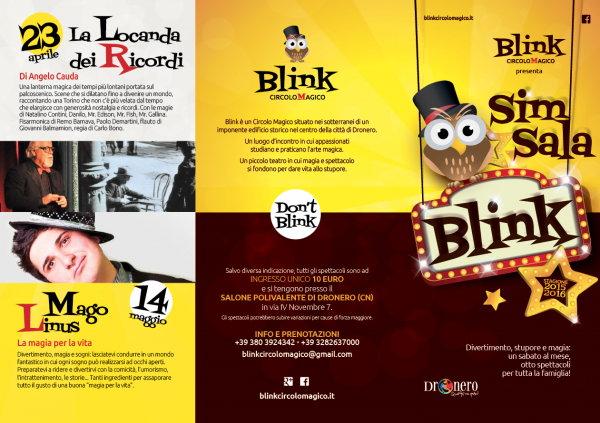 BLINK CIRCOLO MAGICO: SIM SALA BLINK